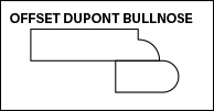 OFFSET DUPONT BULLNOSE edge profile